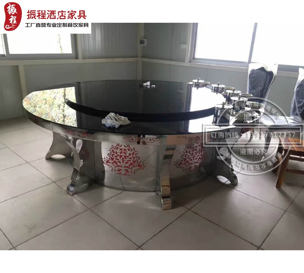 电动餐桌-隐形电磁炉-钢化玻璃