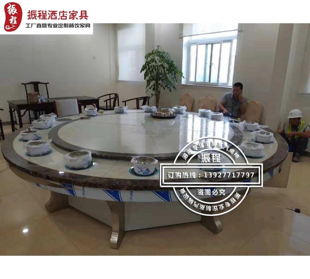 电动蒸汽火锅桌-大理石不锈钢桌