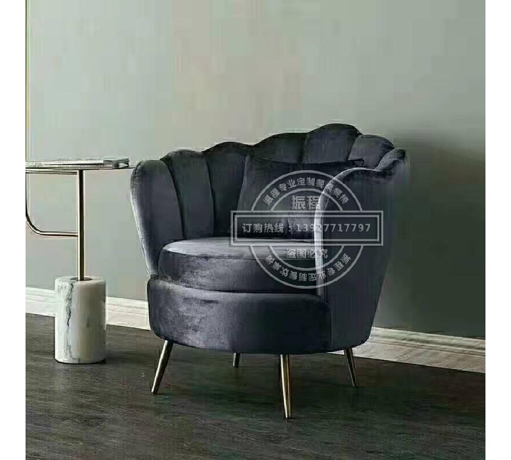 轻奢餐椅沙发椅休闲椅