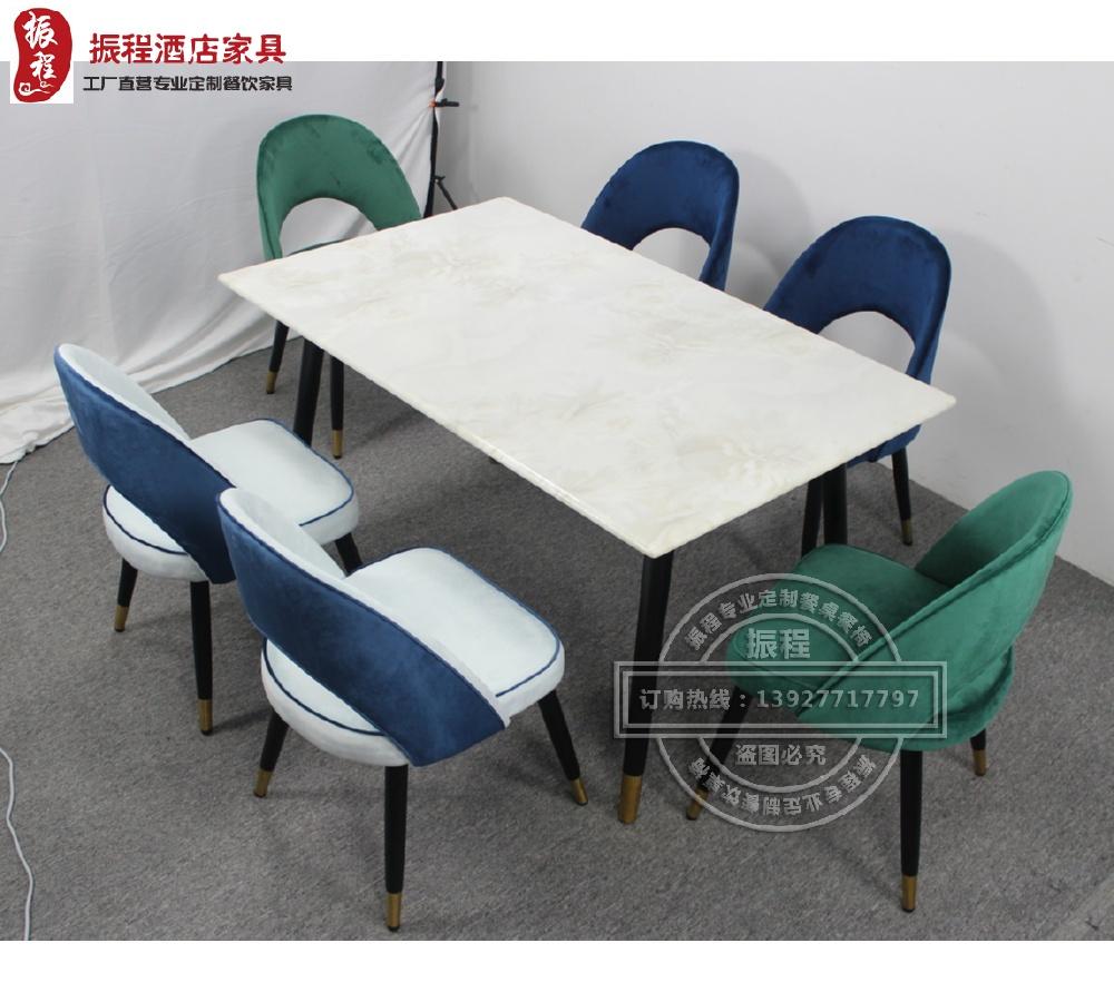 轻奢火锅桌-大理石-实木-电磁炉-圆